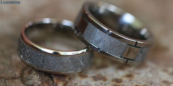 Authentic Lashbrook Gibeon Meteorite Wedding Rings Made In The Usa