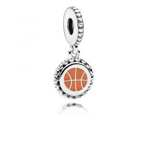 ad26c7988 This sterling silver charm with delicate beaded trim combines the  excitement of your favorite game with the style of your favorite bracelet.