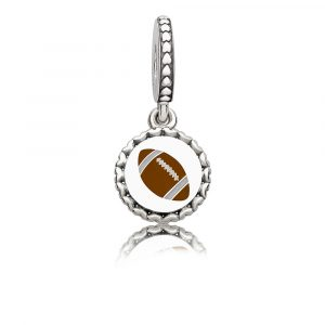 f65e88427 Adorn your bracelet this football season with a charm that shows your love  for the game. This sterling silver charm has a football on one side, ...
