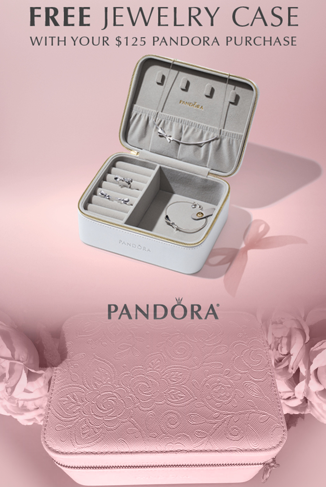 FREE Jewelry Case with your $125 PANDORA Purchase! — The Diamond Center: Where Wisconsin Gets Engaged