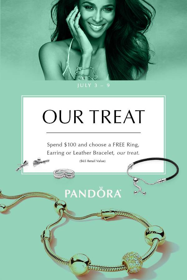 Spend 100 On Pandora Jewelry Choose A Free Ring