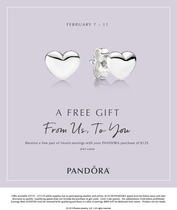 c309c63f7 Receive Free PANDORA Stud Earrings with Purchase — The Diamond ...