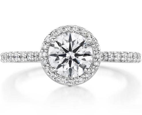 CAMILLA HALO DIAMOND ENGAGMENT RING
