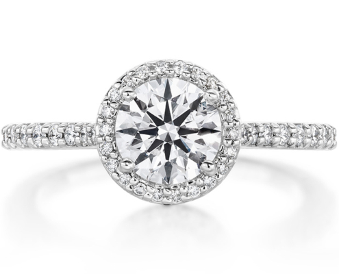 CAMILLA HALO DIAMOND ENGAGEMENT RING
