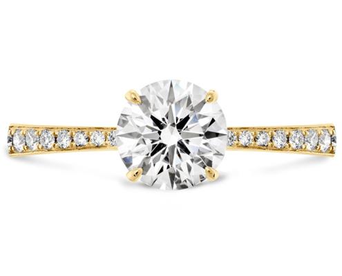HOF SIGNATURE ENGAGEMENT RING-DIAMOND BAND - 18k Yellow Gold