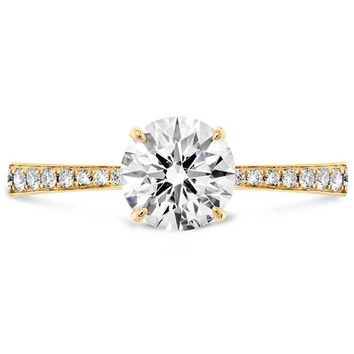 HOF SIGNATURE ENGAGEMENT RING-DIAMOND BAND - 18k Yellow Gold