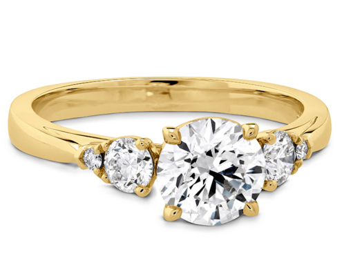 HOF SIGNATURE THREE STONE ENGAGEMENT RING