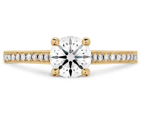 ILLUSTRIOUS ENGAGEMENT RING-DIAMOND BAND - 18K Yellow Gold