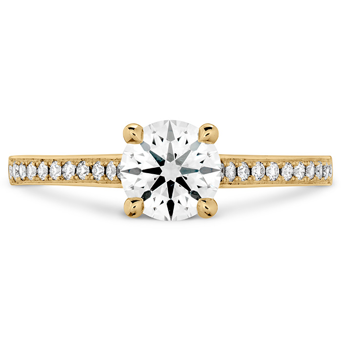 ILLUSTRIOUS ENGAGEMENT RING-DIAMOND BAND - 18K Yellow Gold