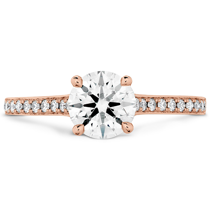 ILLUSTRIOUS ENGAGEMENT RING-DIAMOND INTENSIVE BAND - 18K Rose Gold