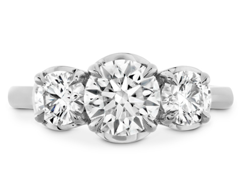 JULIETTE HOF THREE STONE ENGAGEMENT RING