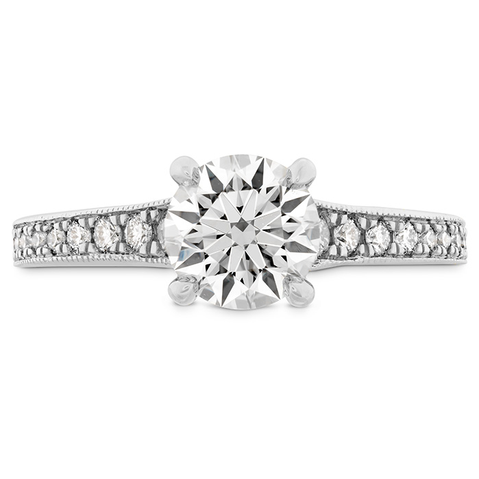 LILIANA MILGRAIN ENGAGEMENT RING - DIA BAND