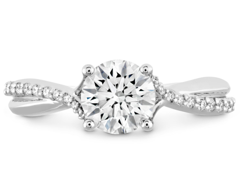 SIMPLY BRIDAL DIAMOND TWIST ENGAGEMENT RING