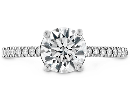 SLOANE SILHOUETTE ENGAGEMENT RING DIAMOND BAND-SAPPHIRES