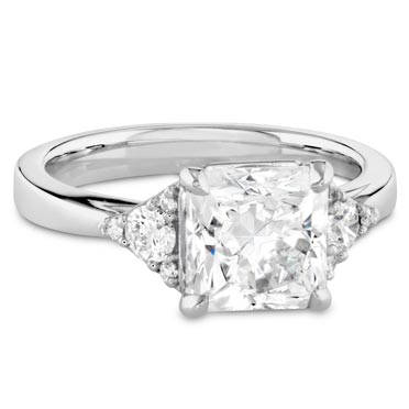 Sidestone - Like a three stone, but with smaller accent diamonds. Think of it as a step between a solitaire and a three stone.