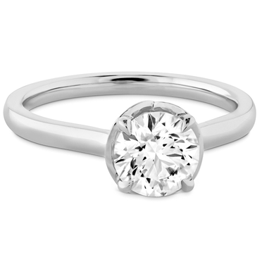 Solitaire - A solitaire ring is an engagement ring with a single, solitaire diamond. A classic style that emphasizes the center stone.
